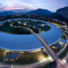 Figure 2 - the European Synchrotron Radiation Facility (ESRF), Grenoble, France; where the first single crystal thin film dissolution experiments were performed at beamline BM28.