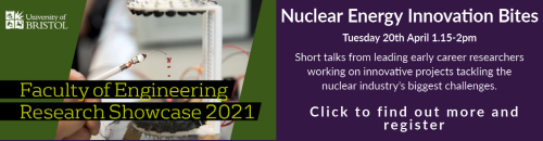 A graphic of the Nuclear Energy Innovation Bites event description